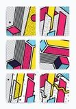 Färgrik uppsättning för popkonst stock illustrationer