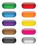 Färgrik uppsättning för rengöringsduksymbolsknapp Arkivfoto