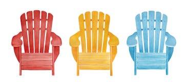 Färgrik utomhus- samling för vardagsrumstol stock illustrationer