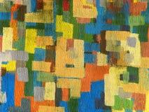 färgrik vägg Arkivfoto