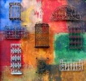 färgrik vägg