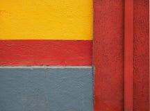 färgrik vägg Arkivbilder