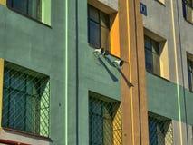 Färgrik vägg för gammal skola Royaltyfri Fotografi