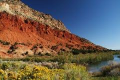 färgrik vägg för kanjon Arkivbilder