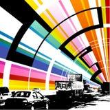 färgrik vägvektor för bakgrund Arkivfoton