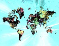 färgrik värld Royaltyfri Bild