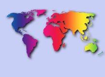 färgrik värld Arkivbild
