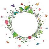 Färgrik vårbakgrund för klotter Arkivfoton
