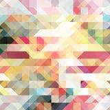 Färgrik vårpalett för abstrakt polygonal bakgrund Royaltyfria Bilder