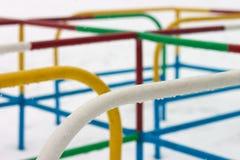 färgrik våt lekplatssnow Arkivfoto