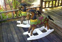 Färgrik vaggande häst Royaltyfria Bilder