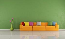 Färgrik vardagsrum Arkivfoton