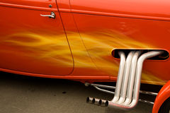 färgrik varm stång för bilar Arkivfoto