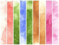 färgrik vattenfärg royaltyfri illustrationer