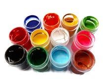 Färgrik vattenfärg arkivfoton