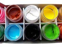 Färgrik vattenfärg Arkivbilder