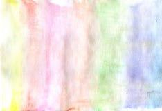 färgrik vattenfärg för abstrakt bakgrund Arkivfoto