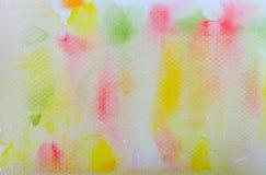 Färgrik vattenfärgabstrakt begreppbakgrund Arkivbilder