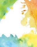 Färgrik vattenfärgbakgrund royaltyfri illustrationer