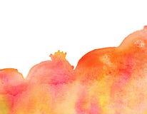 Färgrik vattenfärgfärgstänkfläck var den abstrakt borsten målad verklig slaglängdtextur till spårat vektor illustrationer