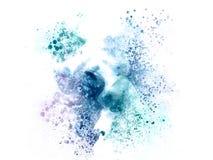 Färgrik vattenfärgmålningbakgrund, färgrik borstebakgrund Arkivbilder