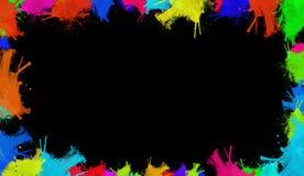 Färgrik vattenfärgtextur Samtida konst Blöta färgstänk royaltyfri fotografi