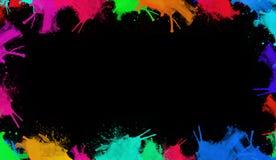 Färgrik vattenfärgtextur Samtida konst Blöta färgstänk arkivfoto