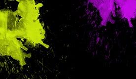 Färgrik vattenfärgtextur Samtida konst Blöta färgstänk arkivfoton