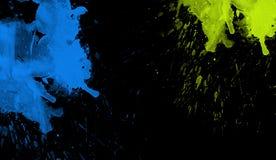 Färgrik vattenfärgtextur Samtida konst Blöta färgstänk arkivbild