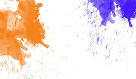 Färgrik vattenfärgtextur Samtida konst Blöta färgstänk royaltyfria foton