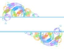färgrik vektor för bakgrundsbubbla Arkivfoto