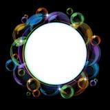 färgrik vektor för bakgrundsbubbla Arkivbild