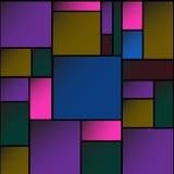 Färgrik vektor för fyrkantmellanrumsbakgrund EPS10 Royaltyfria Foton