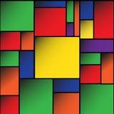 Färgrik vektor för fyrkantmellanrumsbakgrund EPS10 Arkivbild
