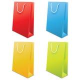 Färgrik vektor för pappers- påsar Arkivbilder