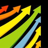 färgrik vektor för pilar Arkivfoto
