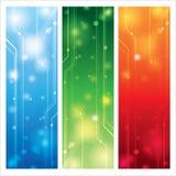 Färgrik vektor för teknisk bakgrund Royaltyfri Bild