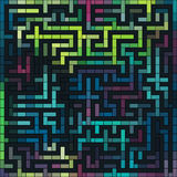 Färgrik vektorgrungelabyrint vektor illustrationer