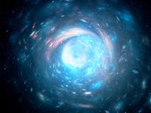 Färgrik vibrerande galax i utrymme Arkivfoto