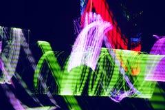 färgrik vibrerande lampanatt för abstrakt bakgrund Arkivbilder