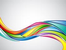 färgrik vibrerande wave stock illustrationer