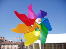 färgrik vind steg Royaltyfri Bild
