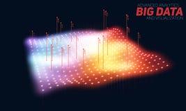 Färgrik visualization för stor datatäppa Futuristiskt infographic Estetisk design för information Visuell datakomplexitet Royaltyfri Bild
