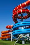 färgrik waterslide Fotografering för Bildbyråer