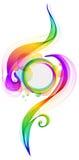 färgrik wave för abstrakt bakgrund Royaltyfri Bild
