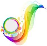 färgrik wave för abstrakt bakgrund Arkivfoto