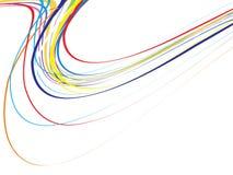 färgrik wave för bakgrund Arkivbild