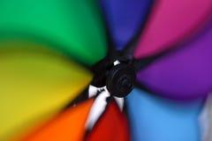 färgrik windmill Royaltyfria Bilder