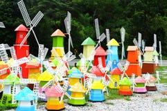 Färgrik windmill Royaltyfri Foto