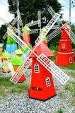 Färgrik windmill Royaltyfri Fotografi